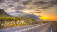 The sunrise in Berufjörður, Eastern Iceland photo by karl magnusson