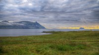 Looking toward Skrudur one early morning from Faskrudsfjordur in Eastern Iceland photo by karl magnusson