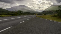 The road through Fagridalur to Reydarfjordur on the right and to Mjoifjordur on the left photo by karl magnusson