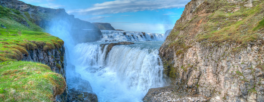 The waterfall Gullfoss in Southern Iceland photo by karl magnusson