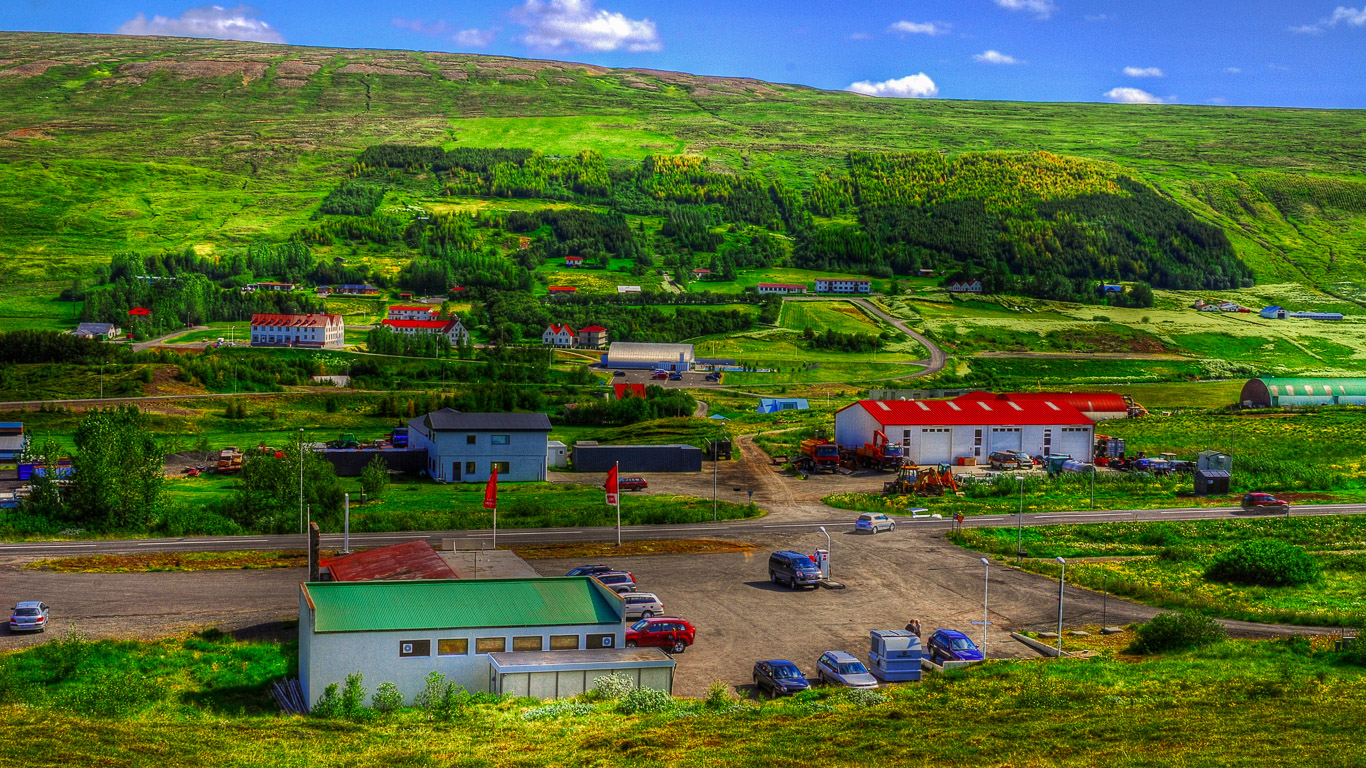 Laugar Iceland  city pictures gallery : View over Laugar in Northern Iceland