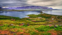 View over Miklavatn and mt. Tungufjall in Northern Iceland photo by karl magnusson