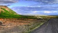View toward Kópasker from Leirhafnarskarð in Northern Iceland
