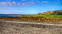 View into Melrakkaslétta seen from Leirhöfn in Northern Iceland