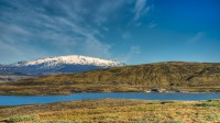 Mt. Hekla seen from Þórisvatn on route over Sprengisandur in the Highlands of Iceland photo by karl magnusson