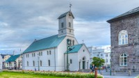 The Lutheran Cathedral in Reykjavik Centrum, Iceland where the parliament start each year session