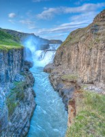 The golden waterfall Gullfoss in Southern Iceland photo by karl magnusson