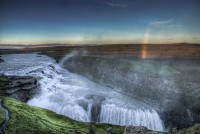 The golden waterfall Gullfoss one late afternoon in Southern Iceland photos by karl magnusson
