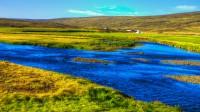 River running through the valley Lundarreykjadalur in Borgarfjörður, Western Iceland photo by karl magnusson