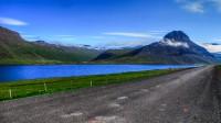 View into Álftafjörður and mt. Eyrarfjall in Westfjords of Iceland photos by karl magnusson