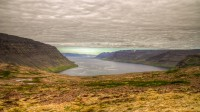 View over Geirþjófsfjörður in Arnarfjörður from Dynjandisheiði in Westfjords of Iceland photos by karl magnusson