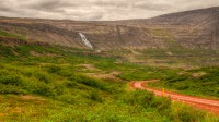 The waterfall Dynjandi seen from Dynjandisheiði in Westfjords of Iceland photos by karl magnusson