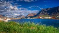 Looking into Önundarfjörður from Flateyri in Westfjords of Iceland photos by karl magnusson