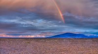 Late afternoon view of the landscape with rainbow in the Highlands of Iceland on route over Kjölur photo by karl magnusson