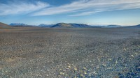 View from Þórisvatn into the interior of the Highlands of Iceland on the route over Sprengisandur photo by karl magnusson