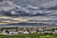 View from Reykjavik toward Mt. Esja