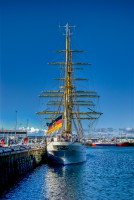 Gorch Fock in the Reykjavik down town harbor