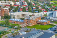 Health administration of Iceland in Reykjavik seen from above