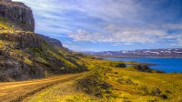 Road into Bjarnarfjörður in Strandir, Westfjords of Iceland photos by karl magnusson