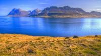 Mt. Kambur in Reykjarfjörður and mt. Byrgisvíkurfjall to far left, Strandir in Westfjords of Iceland photos by karl magnusson