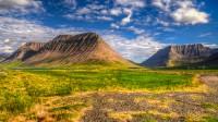 Mountains from left to right, mt. Krákur, mt. Bakkafjall and mt. Kaldbakur in Önundarfjörður in Westfjords of Iceland photos by karl magnusson
