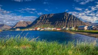 In Flateyri with mt. Þorfinnur and mt. Holtafjall to the left in Westfjords of Iceland photos by karl magnusson